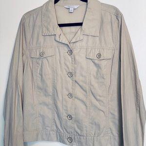 Relativity | Beige Linen Jean Jacket | Size XL